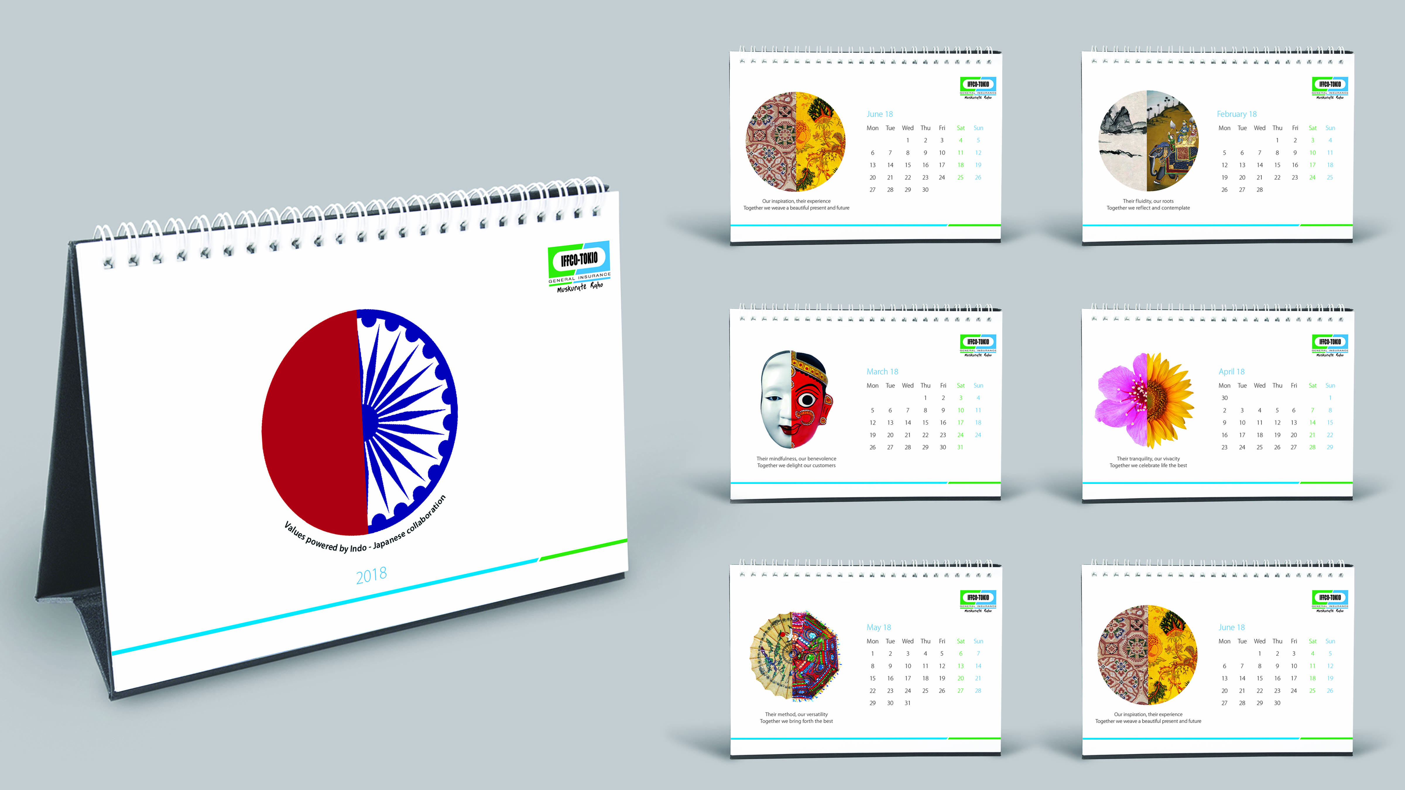 Iffco insurance calender design