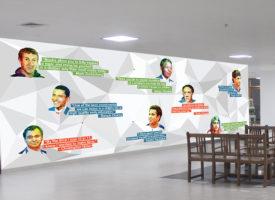 pacific world school 3D wall sticker
