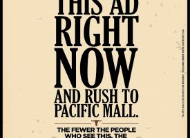 Pacific Mall Newspaper print ad
