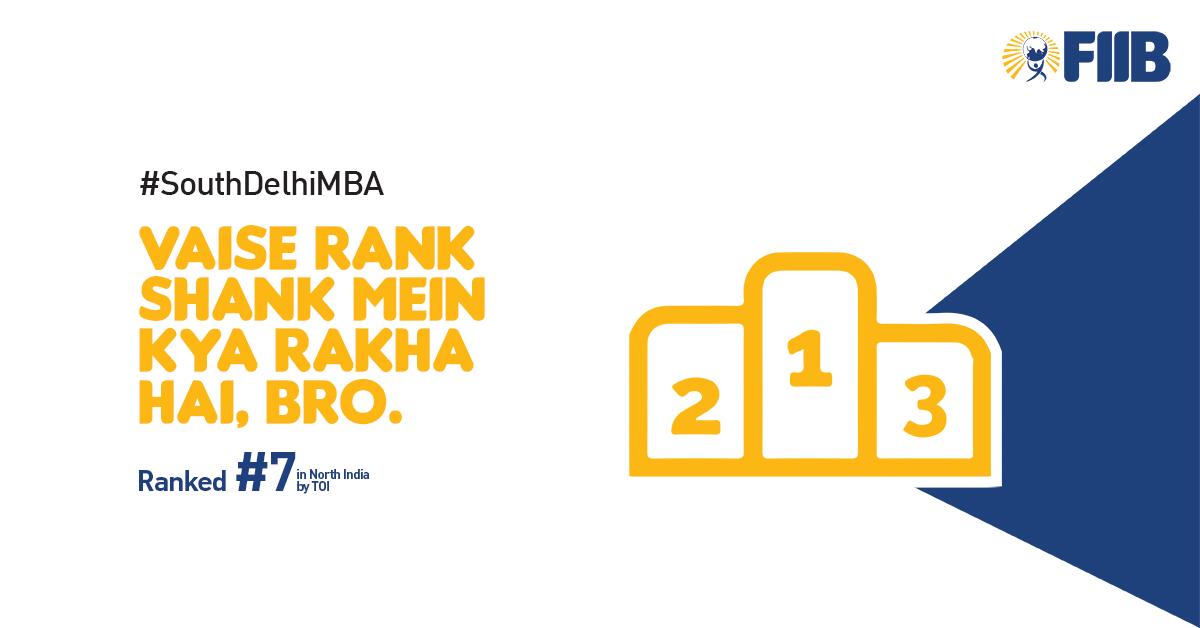 FIIB ranked 7 b school in delhi